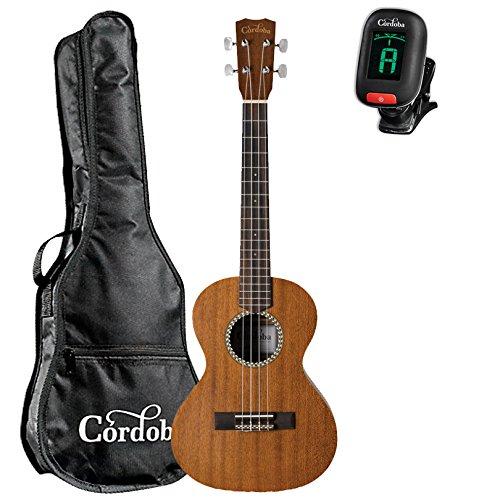 Cordoba 20TM Tenor Ukulele guitarVault Package with Cordoba Gig Bag and Tuner