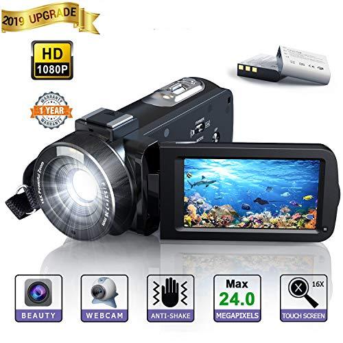 Videocamera Digitale - YUNDOO Videocamera Full HD 1080P...
