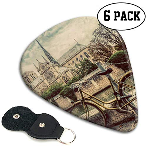 Retro Bike Next to Notre Dames Cathedral In Parijs Gitar Picks Bass Gitar Picks Pack 6 Heavy, elektrische akoestische gitarsT