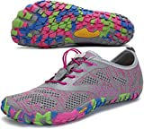 SAGUARO Mujer Zapatillas de Training Yoga Entrenamiento Gym Interior Transpirables Zapatos Correr Barefoot Resistentes Comodas Zapatos Gimnasio Asfalto Playa Agua Exterior(034 Rosa, 42 EU)