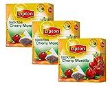 Lipton Black Tea Cherry Morello - Pack of 3 (=60 tea bags)