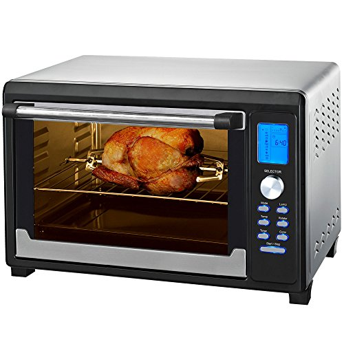 Syntrox Germany Digitale mini-oven met luchtcirculatie en draaispies, 45 liter