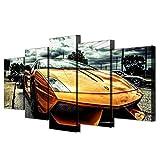 WUZHIXIN 5 Piezas Cuadros en lienzos Ghini Naranja Mandarina exótica Cuadros Modernos Impresión de Imagen Artística Decorativo para Salón o Dormitorio