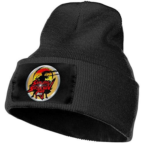 Uomo e donna Samurai Shodown Sen Skull Beanie Cappelli Cappelli invernali lavorati a maglia Cappello da sci caldo e morbido Nero