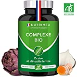 DETOX intestin, foie et colon 100% naturel et bio COMPLEXE BIO Artichaut Radis Noir Curcuma -...