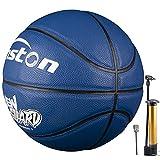Senston Balones Baloncesto Tamaño 5 Cuero TPU Interior/Exterior Balon de Baloncesto para Principiantes con Inflador