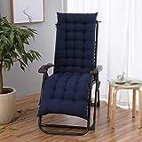 POETRY Cojín para silla mecedora, espesar para interiores y exteriores, universal, con cordones, cojines para silla reclinable, 48 x 170 cm