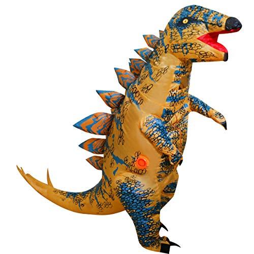 LOLANTA Costumi del Partito di Esecuzione di Divertimento di Halloween del Costume del Dinosauro dei Bambini Adulti del Dinosauro (Stegosauro, Bambini)