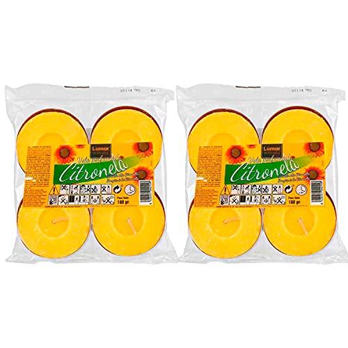 Lot de 8 bougies citronnelle anti-moustiques XXL pour extéri