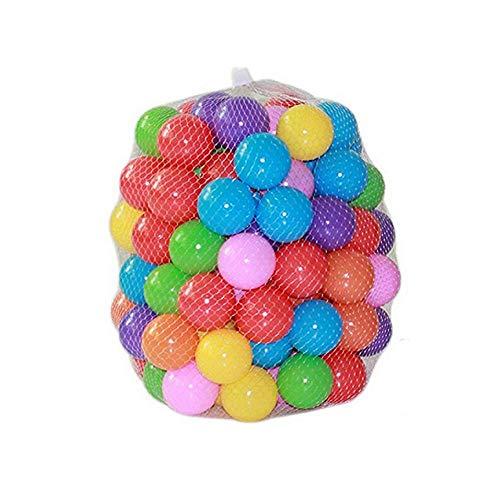 Kaptin 5.5cm 100PCS Soft Plastic Kids Play Ball,Ocean Ball,Colorful Ball Fun Ball Kids Ball Swim Pit Toy Ball Tent Toddler Ball Play Balls for Indoor & Outdoor (Mix Colour-100P)