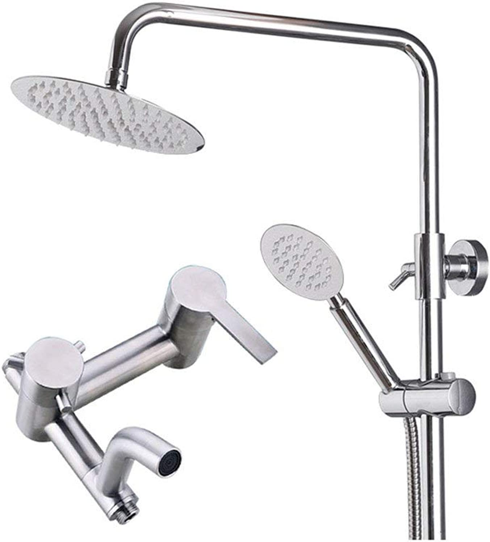 KISlink Duschsystem-Set für Badezimmer Regenduschenset mit Edelstahl-Hebekopf und Handbrause, separat erhltlich