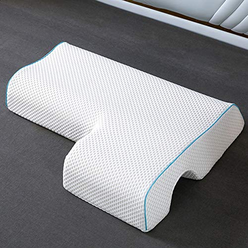 Poncho Memory Foam Pillow-Couple Pillow Breathable Arm Rest, Anti Hand Pressure Pillow for Couples Sleeping (Reseau Left)