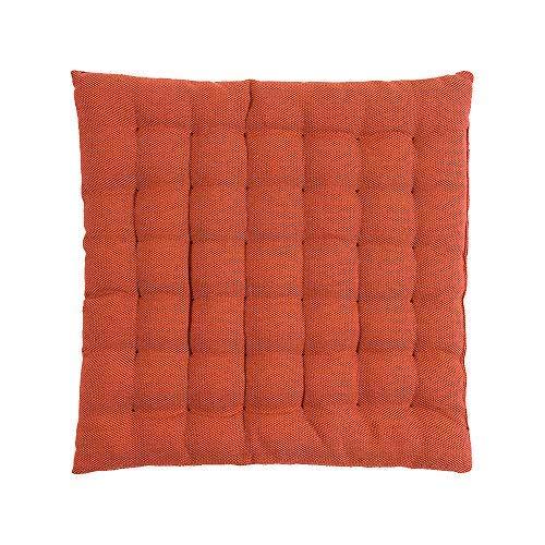 LINUM Sitzkissen PEPPER B13 terracotta 40cm x 40cm x 4cm, Dekokissen, Kissen, Wohntextilien