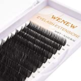 WENEW Flat Lashes Individual Classic Eyelash Extensions 0.15mm D Curl Mixed Tray 8mm-16mm