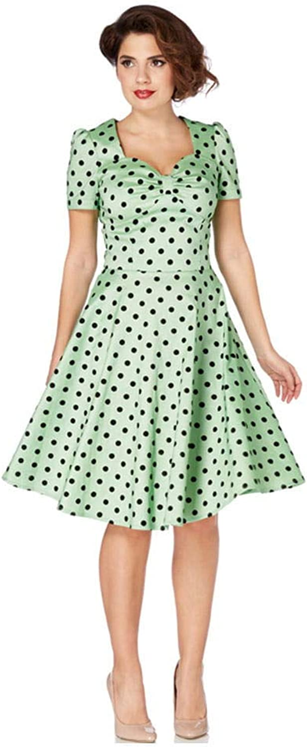 HorrorShop 50s polka dot dress S