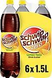 Schwip Schwap Lemon ohne Zucker – Koffeinhaltiges Cola-Erfrischungsgetränk mit Orange und Zitrone (6 x 1,5 l)