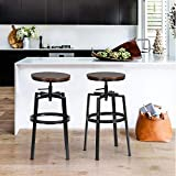 Lot de 2 Tabourets de Bar, Chaise De Bar, Industriel Tabouret de Bar, Hauteur...