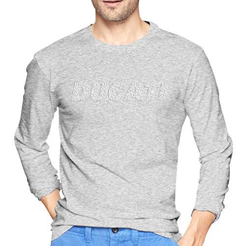 Ducati Outdoor Sport Sweatshirt Männer Langes Hemd Männer T-Shirt Herren T-Shirt Casual Baumwolle Langes T-Shirt (XXL)