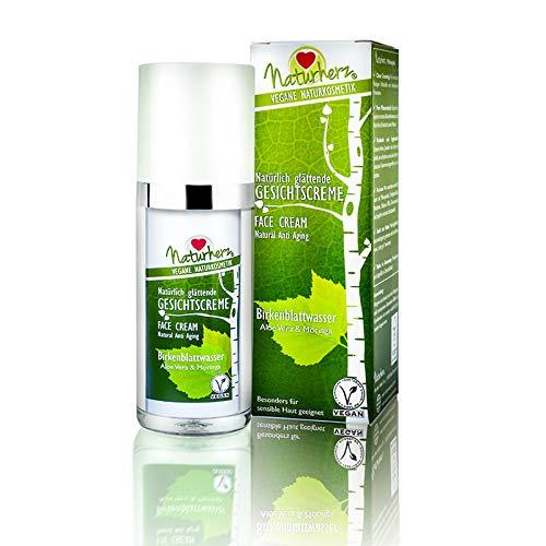 Naturherz® Crema facial, natural, cuidado facial vegano con ingredientes activos 100% valiosos