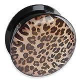 """Picture Plug mit Leopardenprint Der Plug ist aus Acryl und hat ein Innengewinde zum Schrauben. Verfügbare Größen: 4 bis 24mm Wählen Sie die Dehnungsweite (Auswahl """"Durchmesser"""") aus. Der Preis gilt pro Stück."""