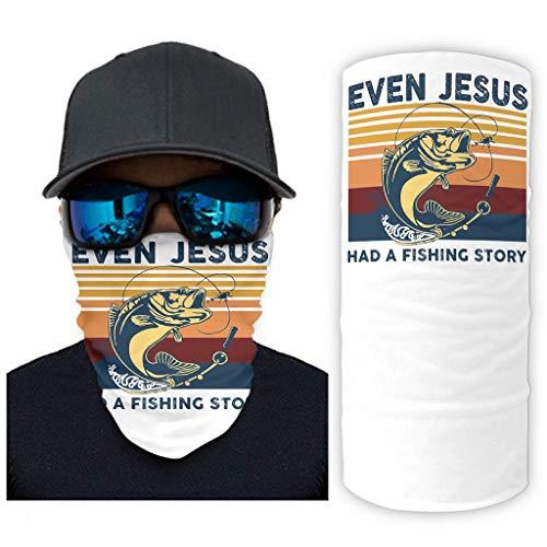 CCMugshop Bandana Face Gaiter Jahrgang incluso Jesus Hatte eine AngelichtGeschichte Print Bandana Balaclava Breathable White One Size