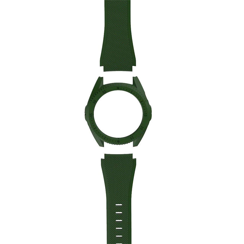 特異な浴引き渡すHuawei GT Smart Watch用Redviveシリコンウォッチバンドリストストラップ+ハードPCカバー