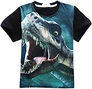 T-Shirts - Children Short Sleeve T-shirt Jurassic Dinosaur Clothes Baby Girls Boys Dinosaur T Shirts Kids Top Tees Child C...