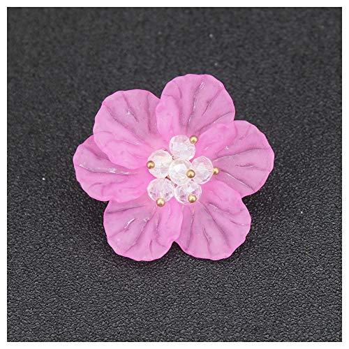 JIWEIER Joyería broche de la flor del encanto de la manera del...