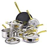 Fleischer & Wolf Aluminum Black Nonstick Cookware Set (10-Piece)...
