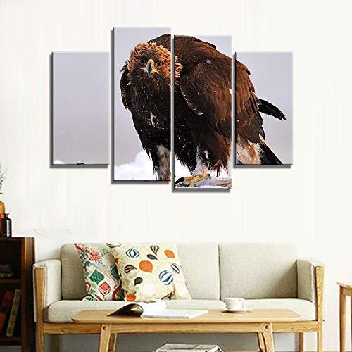 ANTAIBM® Kinderzimmer Schlafzimmer dekorative 4 Malerei Holzrahmen - verschiedene Größen - verschiedene StileModernes Stillleben Real Canvas Painting Bild von Eagle Bird Animal Painting auf Leinwand W