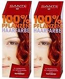 Sante BIO Haarfärbemittel flammenrot 2 x 100 g Doppelpackung pflanzlich schonend Haare Tönung...