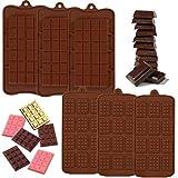 IHUIXINHE 6 Moldes De Silicona Separables para Chocolate, Molde De Barra De ProteíNa Y EnergíA De Primera Calidad para Chocolate, Gofres, Dulces, Galletas