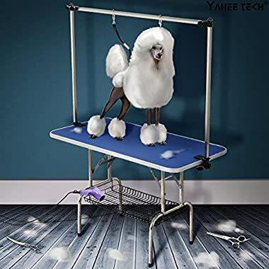 Yaheetech 47  x 24  Professional Adjustable Dog Pet Grooming Table W/Arm & Noose & Mesh Tray,Maximum Capacity Up to 331Lb