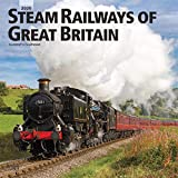 Steam Railways of Great Britain 2020 12 x 12 Inch Monthly Square Wall Calendar, United Kingdom Transportation