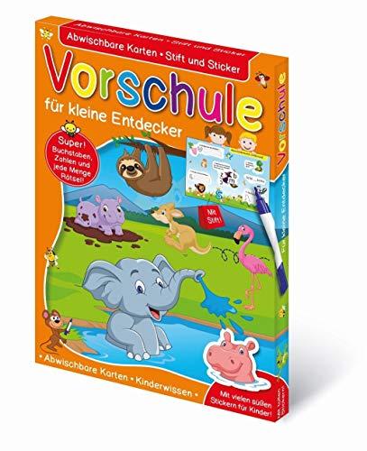 Vorschule: Abwischbare Karten Vorschule - für kleine Entdecker. Mit Stift + Sticker