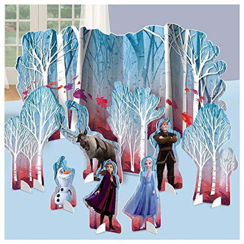 Frozen - Kit de decoración de mesa para 2 cumpleaños, 9 unidades