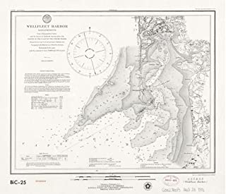 1976 Map Wellfleet Harbor, Massachusetts - Size: 20x24 - Ready to Frame - Cape Cod Bay | Massachuset