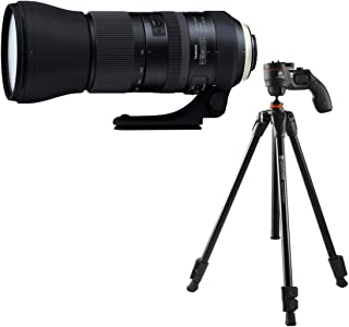 Tamron SP 150-600mm f/5-6.3 Di VC USD G2 Telephoto Lens for Nikon F Mount - Bundle with Vanguard Vesta 203AGH 3-Section Tr...