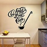 yaonuli Creative Chef Stickers muraux Cuisine Cuisine décoration Stickers muraux Papier Peint Commercial Vinyle Autocollants 28x30 cm