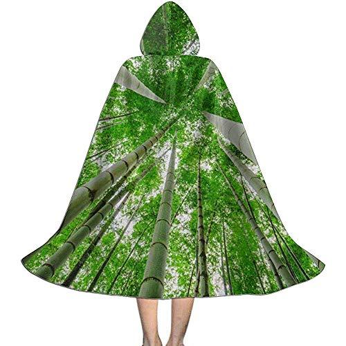 KDU Fashion Wizard Mantel, Groene Bamboe Bomen Kids Hooded Zachte Comfortabele Heks Capes Voor Jongens Meisjes Kinderen 88cm