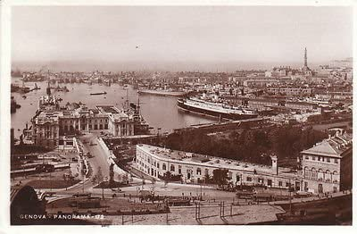 F9729 Ranking sold out TOP6 Italy Genoa Panorama Photo Postcard