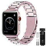 Fullmosa Cinturino per Apple Watch 38mm/40mm, Cinturino in Acciaio Inossidabile Compatibile con iWatch, Cinturini per Apple Watch Serie SE 6 5 4 3 2 1, Rosa