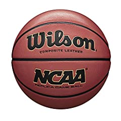 Replica of the NCAA Game Ball Moisture absorbing material offers superior grip ability designed for indoor/outdoor play Laid in composite channels provides a 100 percentage composite cover The soft feel of the balls' cushion core carcass gives you mo...