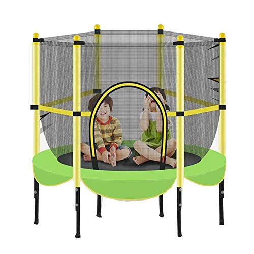 Trampoline met veiligheidspad voor indoor tuin workout cardiotraining 55 inch (140cm) Max belasting 300 lbs