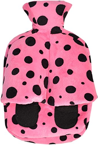 Vagabond Cuddlesoft - Borsa dell'acqua calda per i piedi, 2 l, colore: rosa/nero