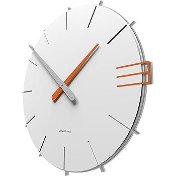 CalleaDesign - 壁時計 Mike - イタリアのデザイン (白)