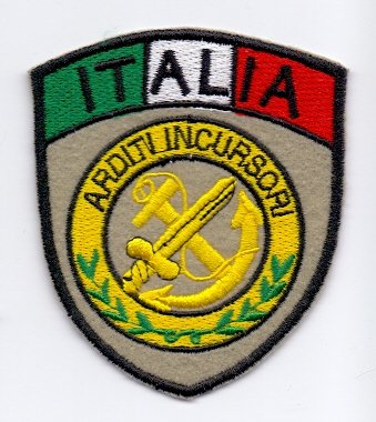 PATCH,TOPPA RICAMATA TERMOADESIVA ARDITI INCURSORI ITALIA
