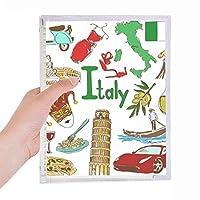 イタリア風景動物の国旗 硬質プラスチックルーズリーフノートノート