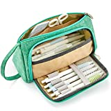 EASTHILL Medium Capacity Pencil Pen Case Bag Pouch Holder Multi-Slot School Supplies for Middle High School...