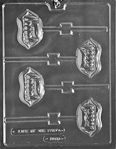 LIPS WITH FANGS LOLLY POPS MOLD (Best) Chocolate Candy MOLD sexy lip vampire teeth